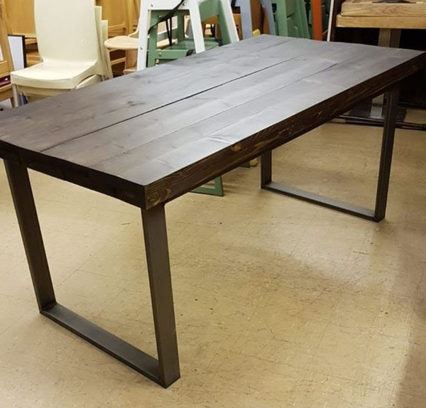 Heavy Duty Rustic Industrial Style Dining Table