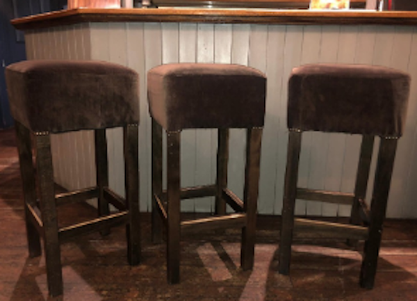 Mink Velvet High Bar Stools
