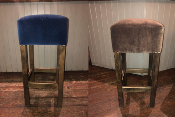 Velvet High Bar Stools