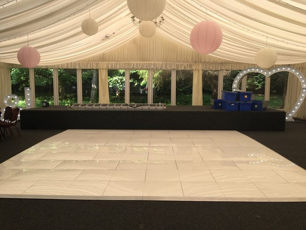 White starlight dance floor hire business