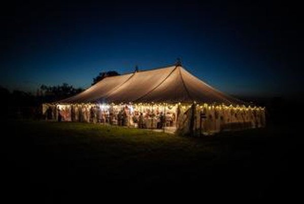 75ft x 30 ft Traditional Marquee with Linings (approx 23m x 9m).