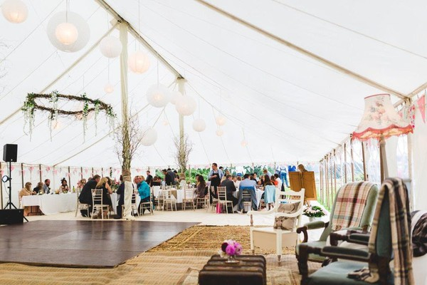 Selling 75ft x 30ft Traditional Marquee with Linings (approx 23m x 9m)