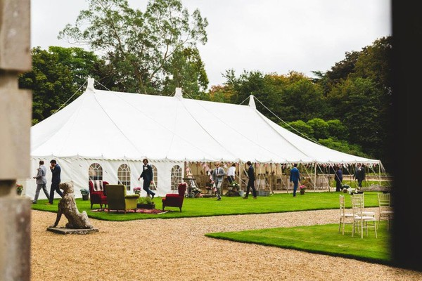 80ft x 40ft Traditional Marquee with Linings (approx 24m x 12m) for sale