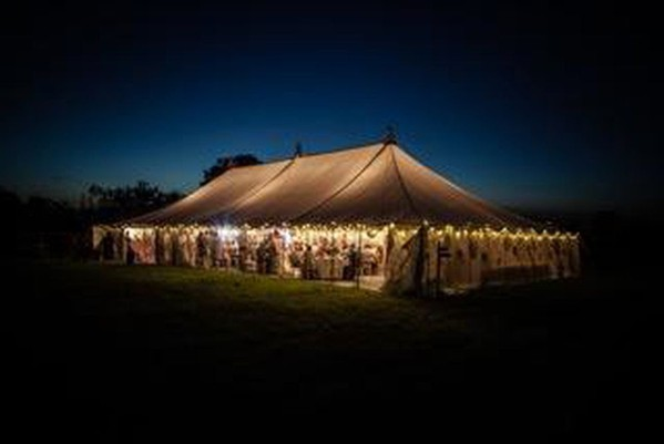 Ex Hire 80ft x 40ft Traditional Marquee with Linings (approx 24m x 12m)