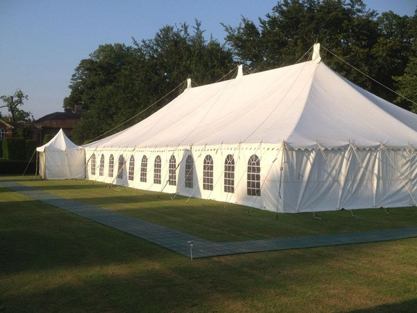 Used 80ft x 40ft Traditional Marquee with Linings (approx 24m x 12m)