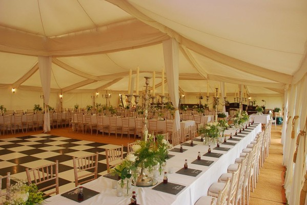 Flat lining for a wedding marquee