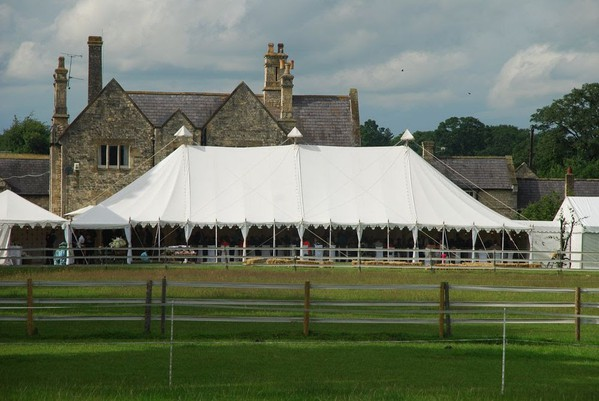 Canvas wedding marquee