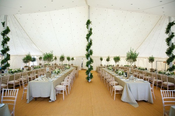 Flat Indian pattern marquee lining