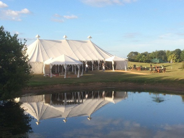 Summer wedding marquee