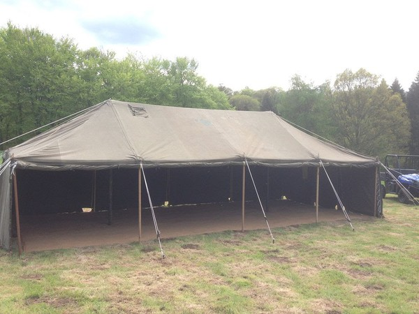 Traditional army marquee