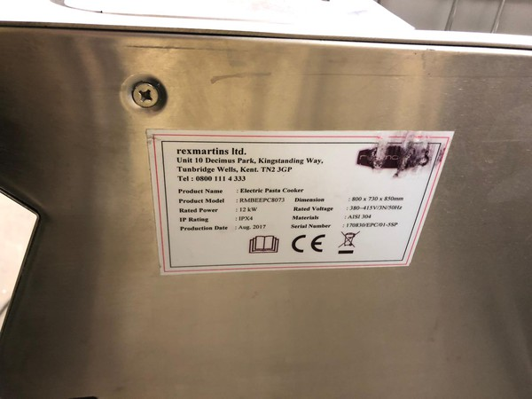 Electric RexMartin Pasta Cooker