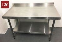 Stainless Steel 120cm (1.2m, 1200mm) Workbench with Upstand