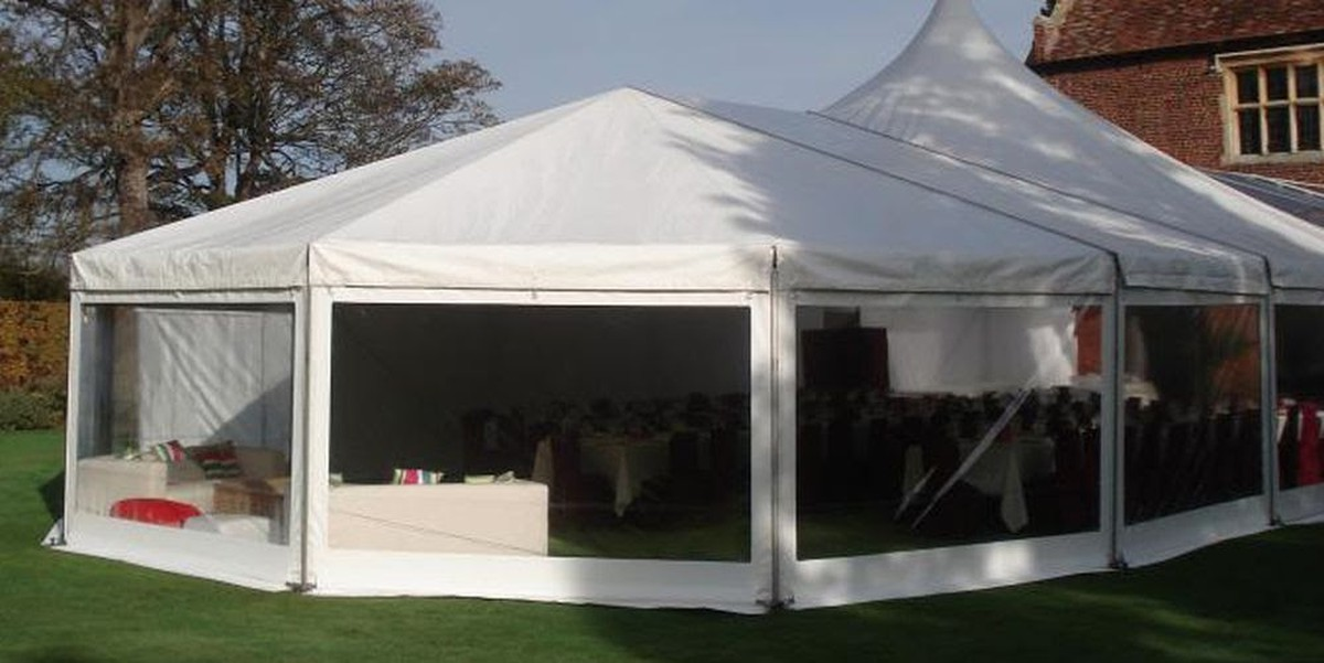 12m Bell End / Hex End & Curlew - SecondHand Marquees | Extension Bays and Complete Frames ...