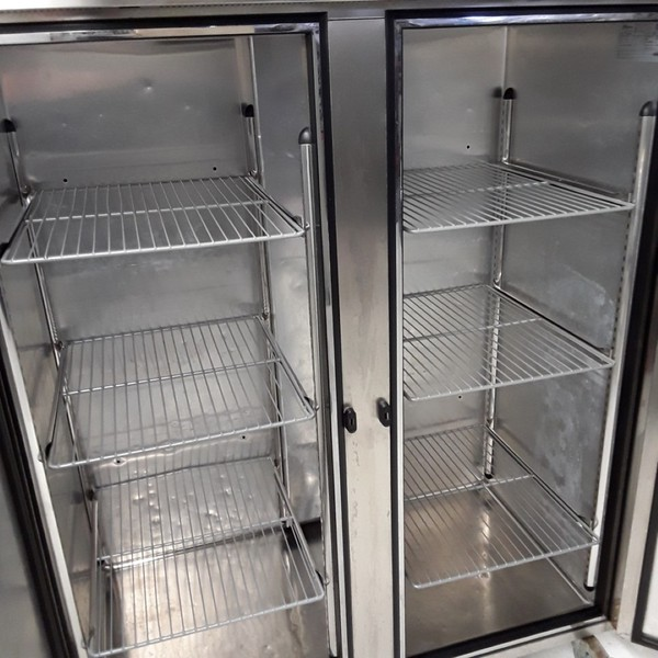 Second Hand Used Foster PROG1350L-A Stainless Steel Double Upright Freezer
