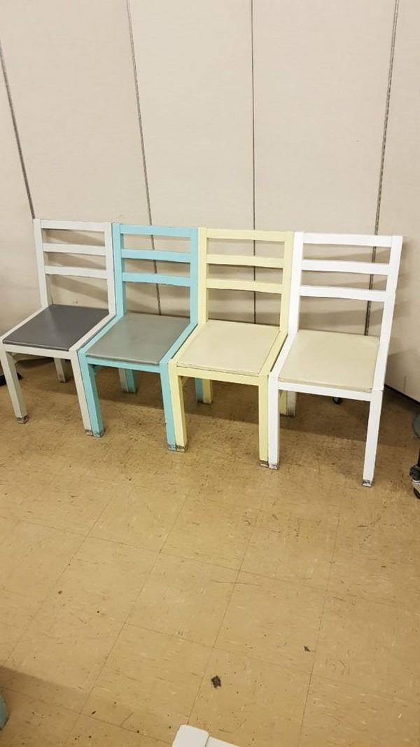 Amazing job lot of 40 Ex Zizzi hardwood side chairs