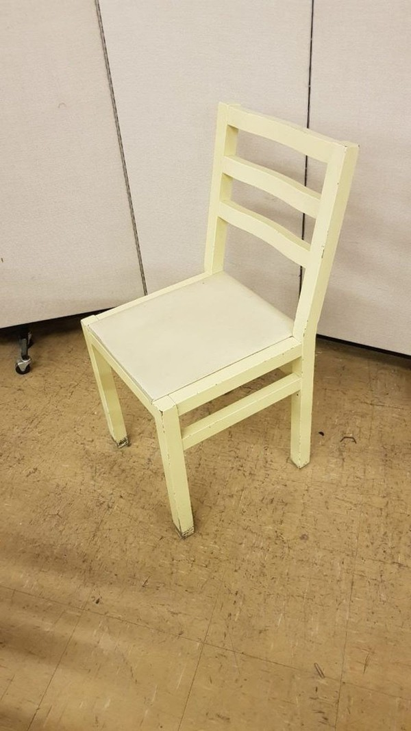 Ex Zizzi shabby chic hardwood side chairs