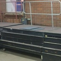 Raked / Tiered / Bleacher Seating unit on wheels