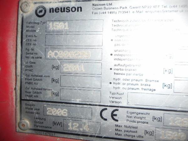 Neuson 1501 for sale