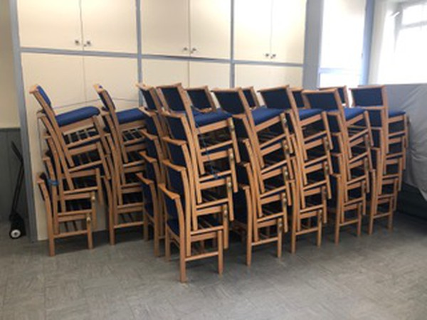 Stacking church chairs