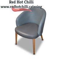 Grey leather tub chairs for sale