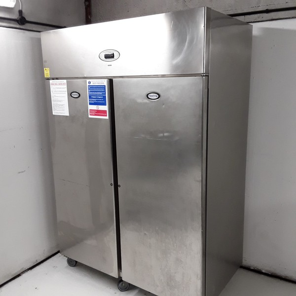 Used Foster PROG1350L-A Stainless Steel Double Door Upright Freezer