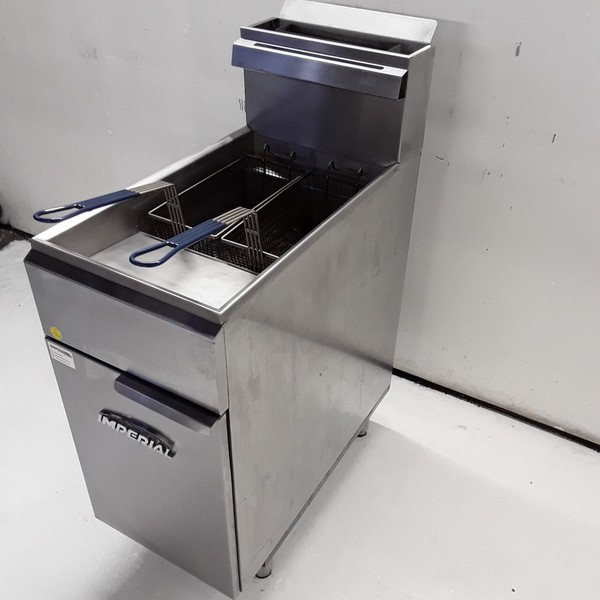 Used Imperial CIFS40 Freestanding Double Fryer
