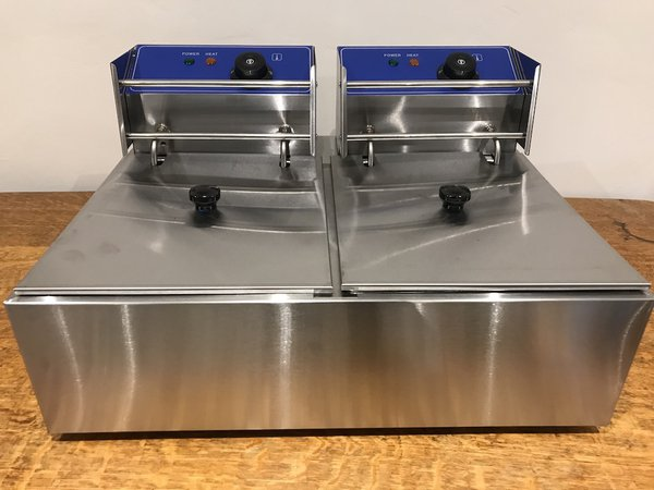2x6L Commercial Counter Top Double Fryer - Ex Display - NEW