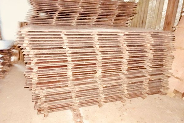 Large quantity of wooden flooring