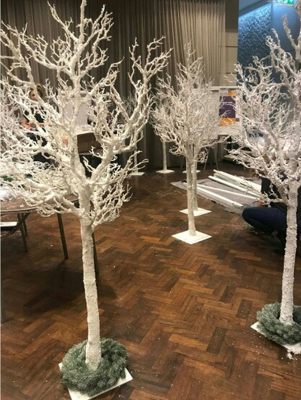 2m High Realistic White Trees.