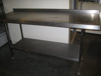1.8M Stainless Steel Prep Table With Splashback