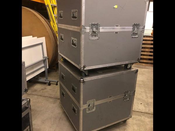 Flight cases, cable storage box