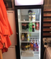 Tall drinks display fridge