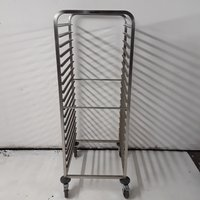 New B Grade Blanco Stainless Steel Double Gastro Trolley (7859)
