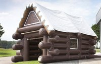 Inflatable log cabin marquee for sale