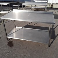 Used   Stainless Steel Table	(7863)