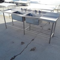Used Simply Stainless Stainless Steel Double Sink (7869)