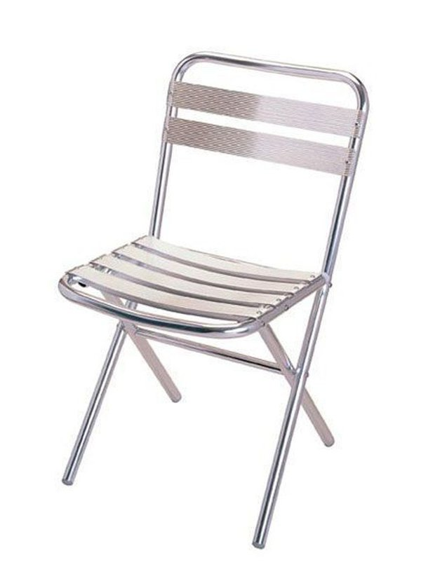 Aluminium folding bistro chairs