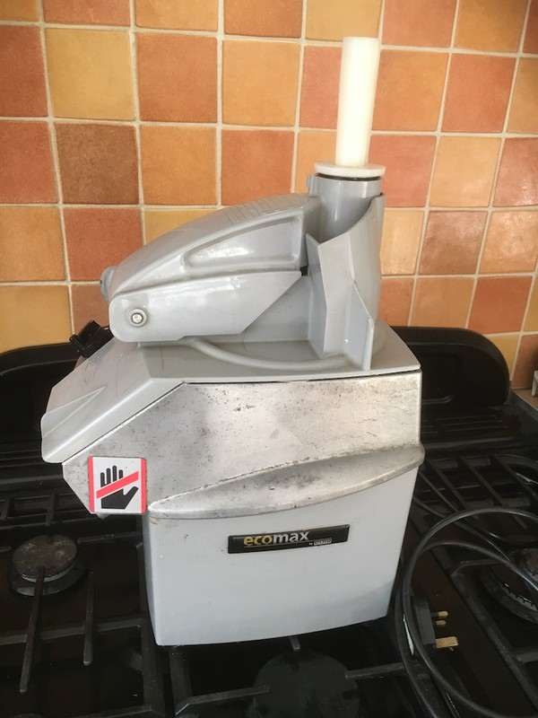 Hobart Ecomax veg prep machine with slicing disc