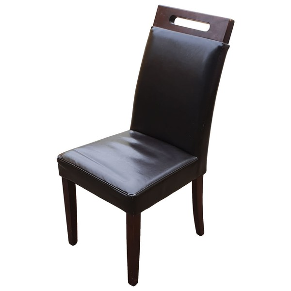 Ex Restaurant Brown Leather Dining Chairs