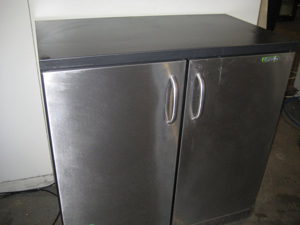 Gamko Double Door Solid Back Bar Storage Chiller