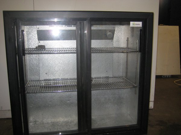 Black Sliding Door Back Bar Fridge