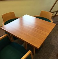 Square wood tables for sale