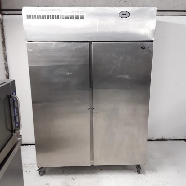 Used Foster PROG1350H Stainless Steel Double Upright Fridge (7879)