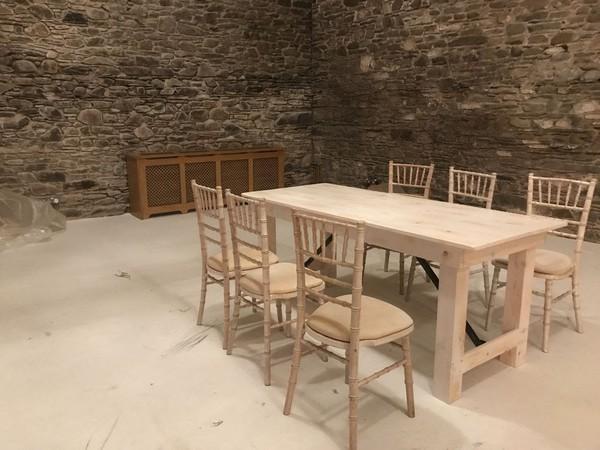 Limewash Trestle Table Sets