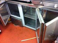 Stainless Steel Catering Work Surface  With 3 Door Fridge Below  - Hythe, Kent