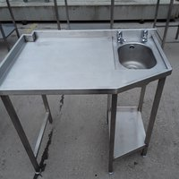 Used Stainless Steel Hand Sink Table (7884)
