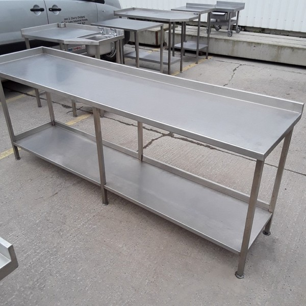 Used Stainless Steel Table (7885)