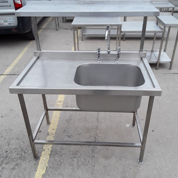 Used Stainless Steel Single Bowl Sink (7887)