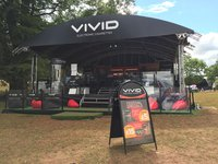 10m x 8m tri-lite stand with staging
