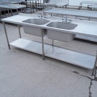 Used Stainless Steel Double Sink (7891)